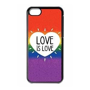 iPhone 5c Cell Phone Case Black Love Is Love Rainbow Uqjha