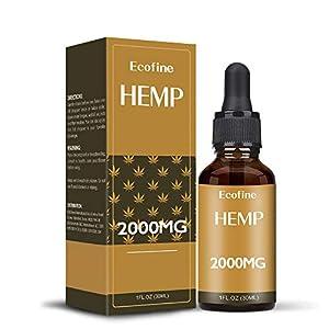 ECOFINE Hemp Oil,(2000mg)High Strength 30ml,Pure a...