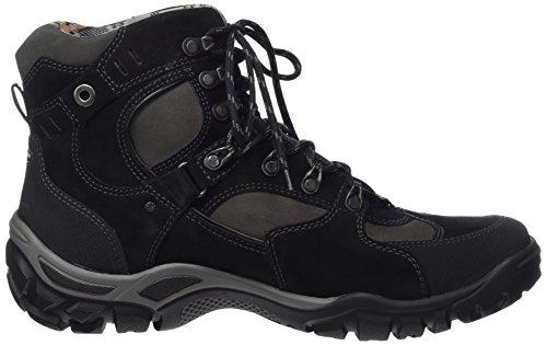 Waldläufer Herren Hennes Klassische Stiefel Braun (Gummi Denver Torrix Schwarz Carbon)