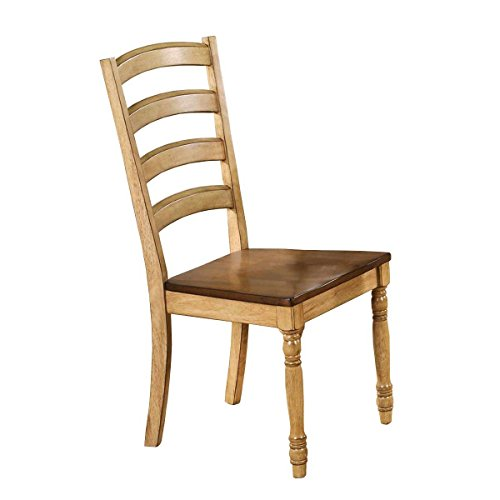 Winners Only Quails Run Ladder Back Dining Side Chair Set of 2 in Almond/Wheat - DQ1450SW