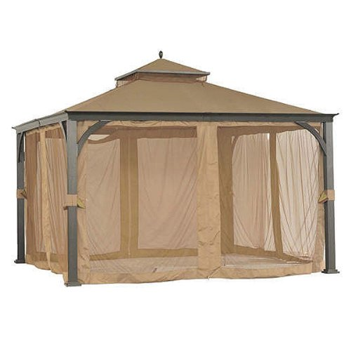 (Garden Winds 12 x 12 Soft Top Gazebo Replacement Canopy - RipLock 350)