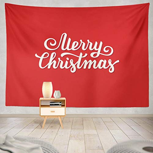 Hdmly Tapestry, Decorative Wall Tapestry Merry Christmas Font Xmas Greeting Card 60x80 Inch Tapestry Wall Art for Men Kids Home Decor Bedroom Living Room Dorm Tapestry Wall Hanging