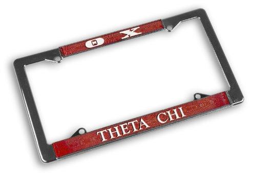 (Greekgear Theta Chi Chrome License Plate Frames)