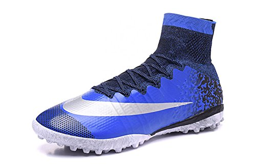 demonry Schuhe Herren Mercurial superfly CR7TF Royal Blau Fußball Fußball Stiefel