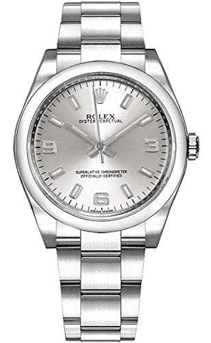Rolex Oyster Perpetual Silver Dial 34mm Luxury Watch