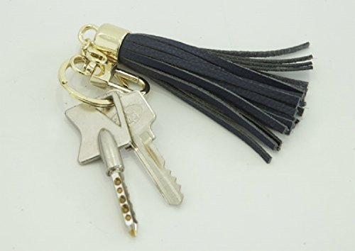 Leather Tassel Charm Women Handbag Wallet Accessories Key Rings (Hot-pink) by Beautyou (Image #5)