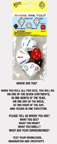 Novelty Dice (Koplow Games Inc. KOP17625 Where Are You Dice)