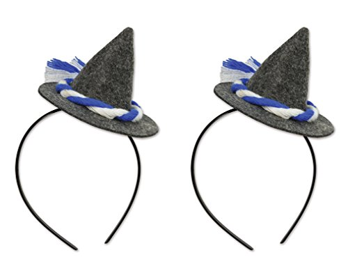 Beistle 53333, 2 Piece Oktoberfest Peasant Hat Headband, One Size Fits Most
