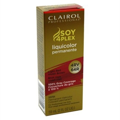 Clairol Professional Liquicolor Permanent 4Rv/64R Light Red Violet Brown 2 Ounce (59ml) (6 Pack)