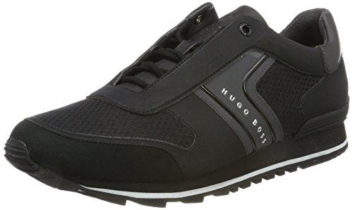 Basses Black Hugo Homme BOSS Runn Noir Sneakers Tech Parkour wHaSaXq