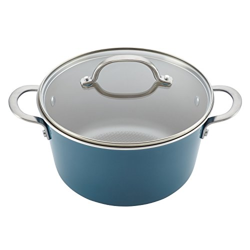 Ayesha Curry Home Collection Porcelain Enamel Nonstick Cookware Set, Twilight Teal, 9-Piece by Ayesha Curry (Image #3)