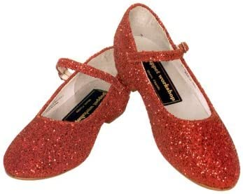 Amazon.com | Red Glitter Dorothy Shoes