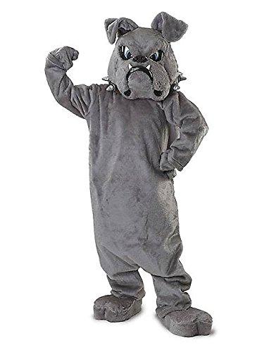 Adult Bull Dog Mascot Costume ONE SIZE (Bulldog Mascot Costume)