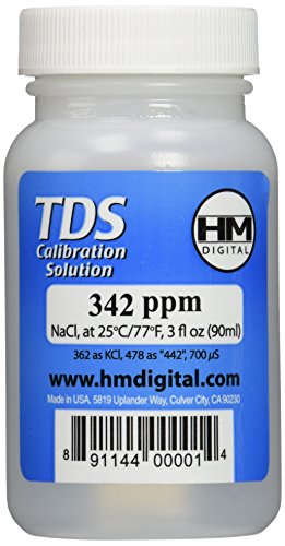 HM Digital C342 TDS and EC Calibration Solution, 342 ppm (NaCl), 90 ml - Calibration Solution