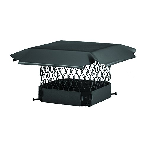 New Draft King CBO913 Bolt On Black Galvanized Steel Single Flue Chimney Cap, 9 x 13