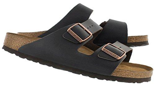 (Birkenstock Arizona 'Soft Footbed' (Women's) Dark Brown Natural Leather Sandals (35 M EU, 4-4.5 US Women))
