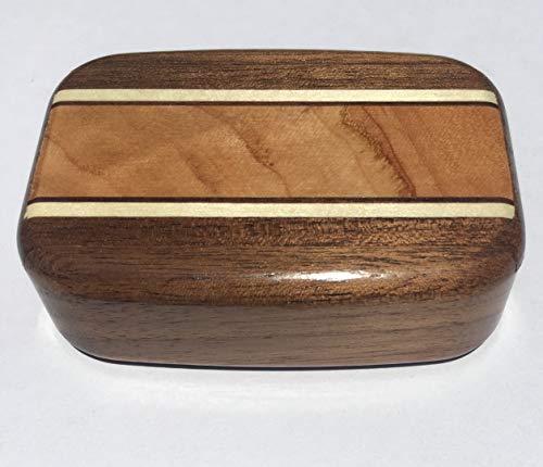 Heartwood Secret Box Burl Maple Inlay - 3 x 2 x 3/4
