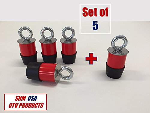 Set of (5) Polaris Lock & Ride Type Eyelet Tie Down Anchor Kit for Ranger UTV's (Polaris Type)