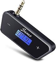 New Version Fm Transmitters, Seneo 3.5mm In-car Fm Transmitter Radio Adapter for iPhone 6s 6 Plus 5s 5c 5 5g 4s 4 3gs 3g Galaxsy S6 S6 Edge S5 S4 S3 Note 4 3 2,htc One M8 / M7 / Mini