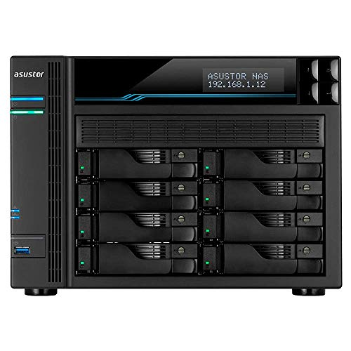 Asustor Lockerstor 8   AS6508T   Enterprise Network Attached Storage   2.1GHz Quad-Core, Two 10GbE Port, Two 2.5GbE Port, Two M.2 Slot for NVMe SSD Cache, 8GB RAM DDR4 (8 Bay Diskless NAS)