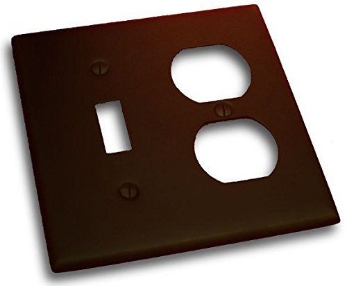 Residential Essentials 10827VB Double Toggle and Outlet Switch Plate, Venetian Bronze (Lamp Venetian Wall)