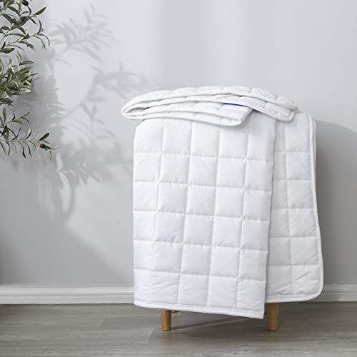 """Best Season Queen Size Quilted Overfilled Mattress Pad Protector Topper with Microfiber Cover Breathable Down Alternative Fill and Non-Skid Elastic Straps (8""""-21"""" Fitted Deep Pocket) White"""
