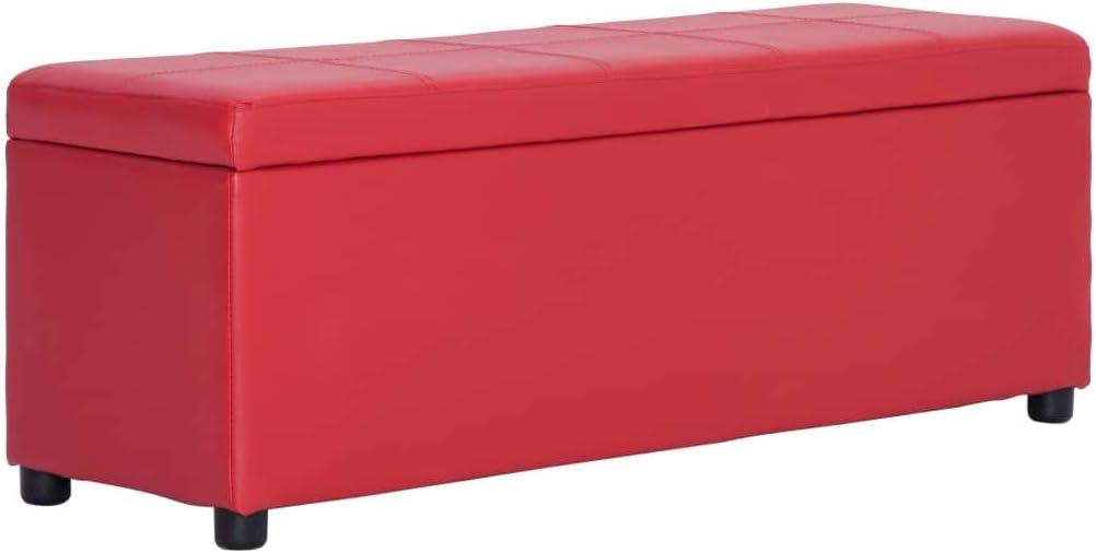 vidaXL Panca con Vano Portaoggetti Elegante Morbida Panchina Stoccaggio Moderna Cassapanca per Ingresso 116 cm Grigia in Similpelle