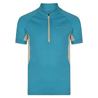 8043a6e47 Dare 2b Childrens Kids Protege II Short Sleeve Half Zip Cycling Jersey (7-