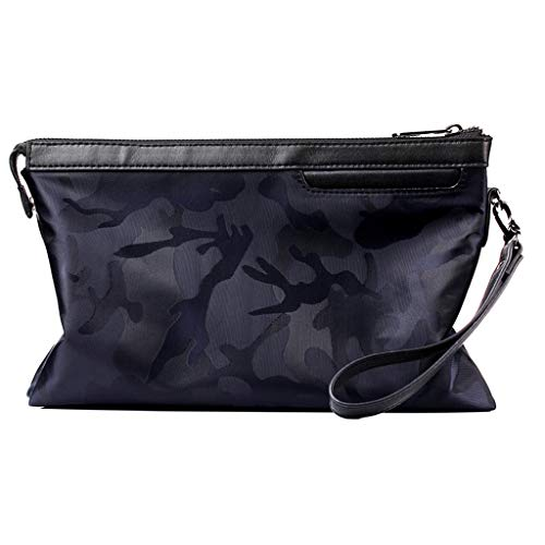 Briefcase,CHUNKUNA Men Oxford Cloth Clutch Bag Casual Camouflage Envelope Bag Handbag (Blue)