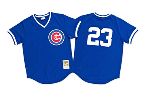 Ryne Sandberg 1984 Authentic Mesh BP Jersey Chicago Cubs 2XL by Mitchell & Ness