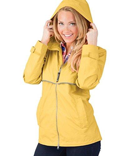 Charles River Apparel Women's New Englander Waterproof Rain Jacket, Buttercup Reflective -
