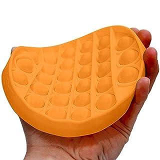 Fishoneion Push pop pop Bubble Sensory Fidget Toy,Autism Special Needs Stress Reliever Silicone Stress Reliever Toy,Squeeze Sensory Toy (Orange)