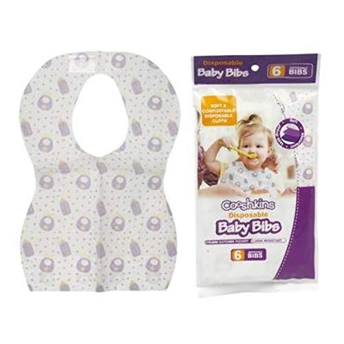 DDI 2327871 Cooshkins Disposable Baby Bibs44; White & Purple - Case of 72