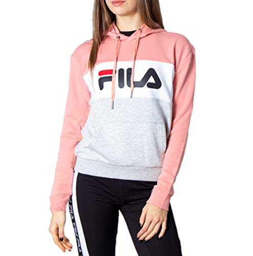 Fila Kapuzenpullover Damen Lori Hoody 687042 Mehrfarbig A475 Lobster Bisque Light Grey