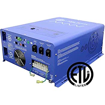 Image of AIMS Power PICOGLF4024240SUL Pure Sine Inverter Charger, 4000W, 24Vdc to 120/240Vac Output, Listed to UL 458/CSA, 12000 Watt Surge for 20 Seconds Power Inverters