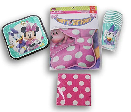 Minnie Mouse Themed Birthday Party Supply Kit -