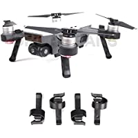 Drone Fans Landing Gear Leg Height Extender Kit Landing Stabilizers Set Gimbal Camera Protector for DJI SPARK Drone Black