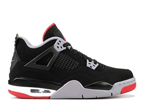 Nike Air Jordan IV 4 Kids Gs Bred Boys Girls 408452-060 US Size 6Y Black (Girls Basketball Shoes Air Jordan)