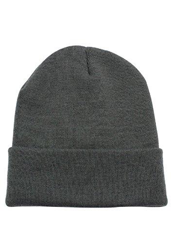 JMR Beanie Hat For Men and Women Winter Warm Hats Knit Thick Skull Cap (Grey) Knit Ski