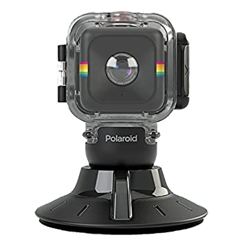 Polaroid Waterproof Case and Suction Mount for Cube Action Video Camera