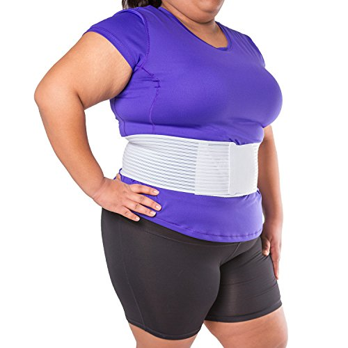 Hernia Belt Truss (BraceAbility Plus Size Hernia Truss Belt | Support for Umbilical, Abdominal, Incisional, Navel or Belly Button Hernias - Safe for Women to Wear During Pregnancy (Large 49