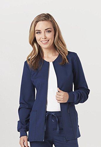Code Happy Women's Zip Front Warm-up Solid Scrub Jacket XXXX-Large - Ck Jacket Up Warm
