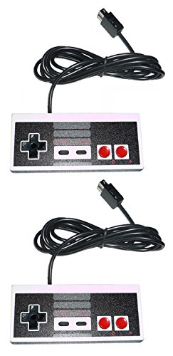 2X Video Game Controller 12 foot extra long cord for Nes
