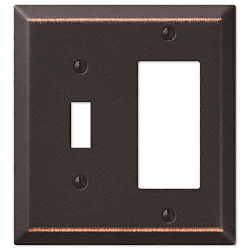 (Toggle Rocker GFCI Wall Switch Plate Cover, Oil Rubbed Bronze)