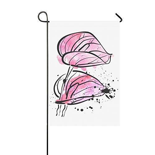 Calla Lily Garden Art - KUneh Home Decorative Outdoor School Garden Flag Double Sided Print Art Calla Lily Flower Watercolor Garden Flag Farmhouse Holiday Garden Flags 12x18 Inch Spring Summer Gift