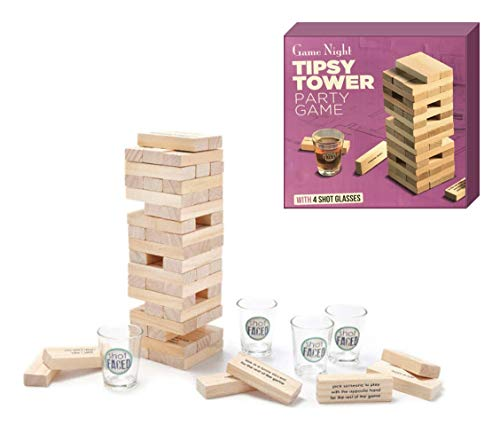 Shopefied Tipsy Tower Party Game 4 Shot Glass