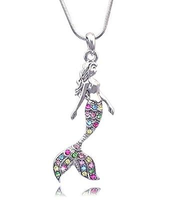 Fairytale Mermaid Pendant Necklace Jewelry