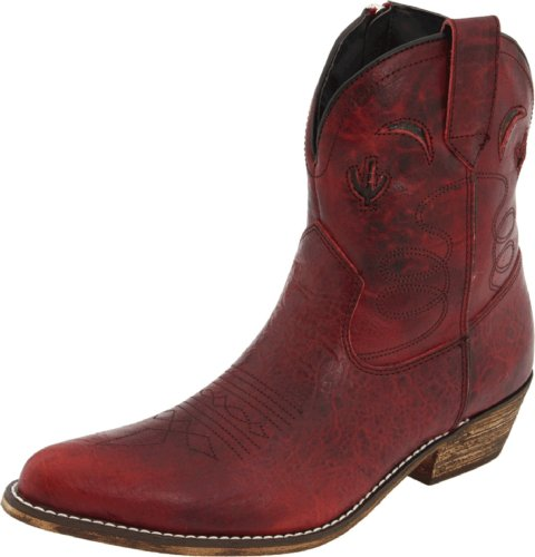 Dingo Women's Prince Street Boot,Red Distressed,10 B US (Ankle Cowboy Boots)