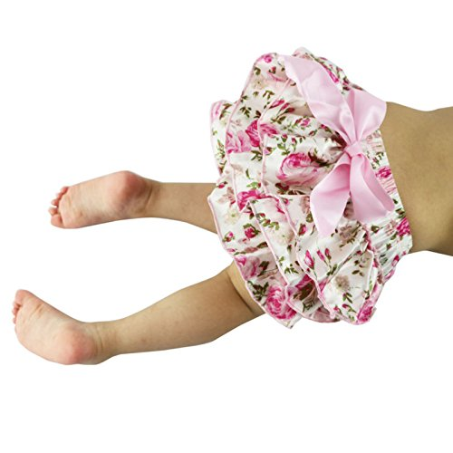 Wennikids Satin Baby Ruffle Bloomers Diaper Covers in a Variety Colors & Sizes LC-RS-484
