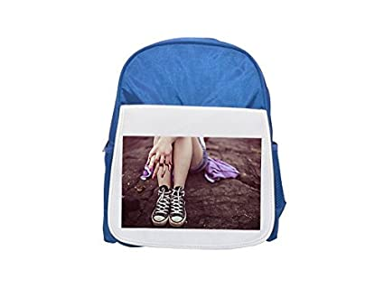Legs, All Star Converse, Casual, feet Printed Kid s Blue Backpack,